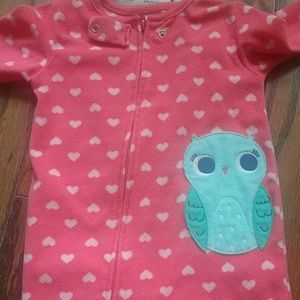 Carter's owl fuzzy footed pajamas
